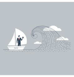 Business obstacle on the way vector
