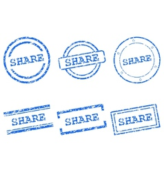 Share stamps vector