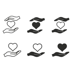 Donate icon set vector