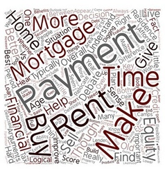 Mortgage payments vs rent payments text background vector