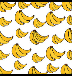 bananas pattern fresh fruit drawing icon vector image
