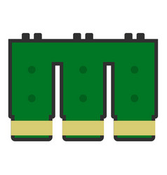 electronic circuit board icon isolated vector image