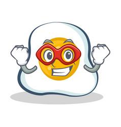 Super hero fried egg character cartoon vector