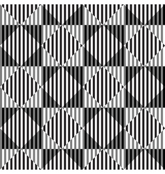 Black and white optical seamless pattern vector