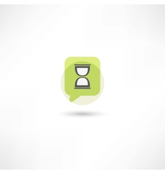 Hourglass in green bubble speech vector
