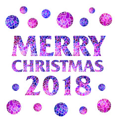 2018 square magic inscription merry christmas vector image vector image