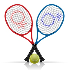 Tennis rackets vector
