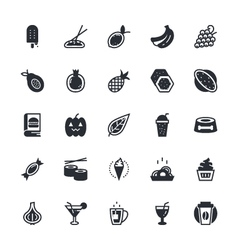 Food vegetables icons 4 vector