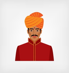Indian man in traditional clothes vector