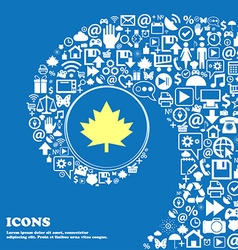 Maple leaf icon nice set of beautiful icons vector