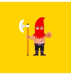 A executioner character for halloween vector