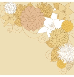 Abstract flourish background vector