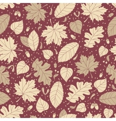 Autumn seamless pattern with seeds and leaves vector image