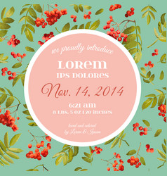 Baby shower invitation template floral card vector