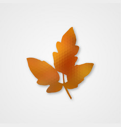 background with autumn leaf of hexagons vector image