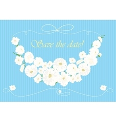 Beautiful garland of white flowers vector image