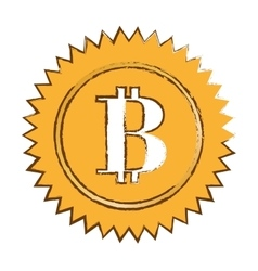 Bitcoin currency digital symbol logotype of money vector