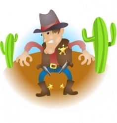 Cartoon cowboy vector