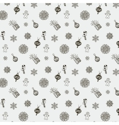 Christmas doodles seamless background vector