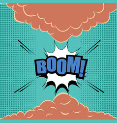 Comic page explosive template vector