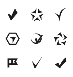 confirm icons set vector image vector image