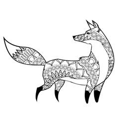 Fox mandala icon vector