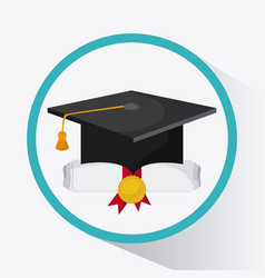 Graduation cap graduate university icon vector