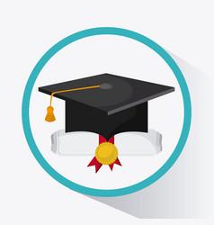 graduation cap graduate university icon vector image