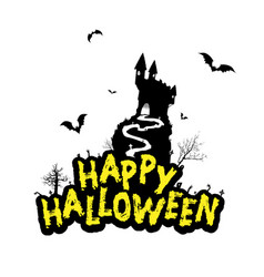 halloween design with happy halloween vector image vector image