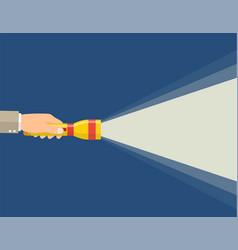 hand holding flashlight vector image
