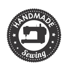 Hand made sewing seal icon vector