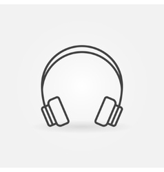 Headphone linear icon vector image