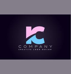 Ic alphabet letter join joined letter logo design vector