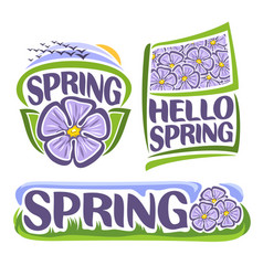 logo of spring flowers vector image vector image