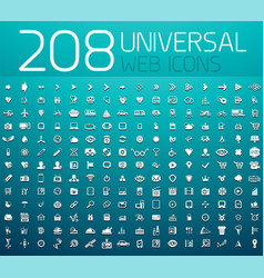 mega collection of 208 universal web icons vector image vector image