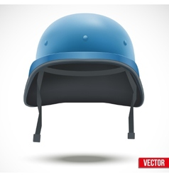 Military helmet of united nations vector