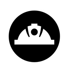 Mining helmet isolated icon vector