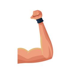Muscular arm icon vector