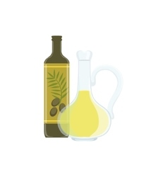 Olive oil baking process and kitchen equipment vector