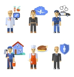 Profession Characters Set vector image