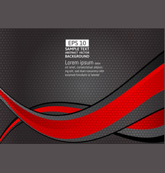 red and black geometric and wave abstract vector image vector image