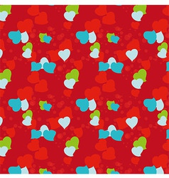 Seamless patent depicting hearts valentines day vector
