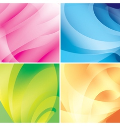 set - bright abstract backgrounds vector image