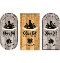 set of labels for olive oils vector image