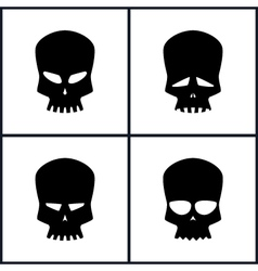 Silhouette Skull Isolated on White vector image