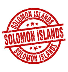Solomon islands red round grunge stamp vector