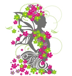spring girl vector image
