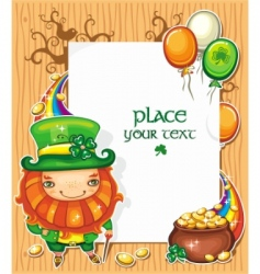 St Patrick's day cartoon frame vector image vector image