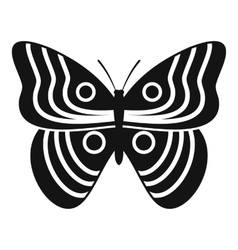 Stripped butterfly icon simple style vector image