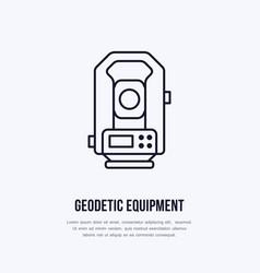 Tacheometer geological survey engineering vector